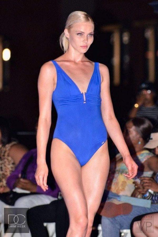 DC Swim Week 2016 | Vida at the Yard | New York City | Model | One-Piece | Blue