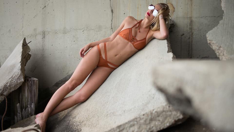 DC Swim Week | EG Lux | Model | Two-Piece | Orange