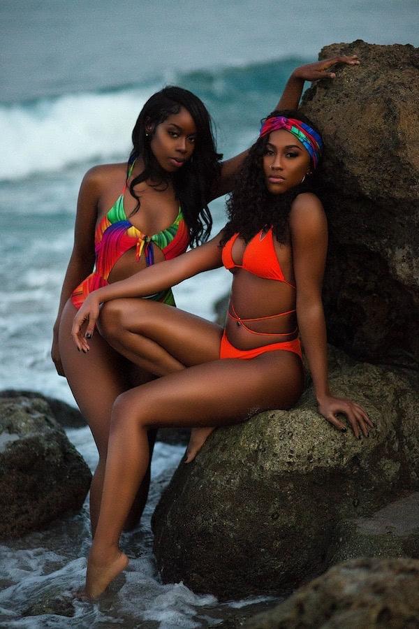 DC Swim Week | Koko D. Swimwear | Two Models | One-Piece | Multicolor | Two-Piece | Neon-Red